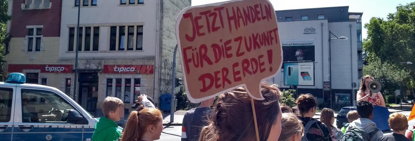 Foto von der Fridays-for-Future-Demo in Witten am 7. Juni 2019