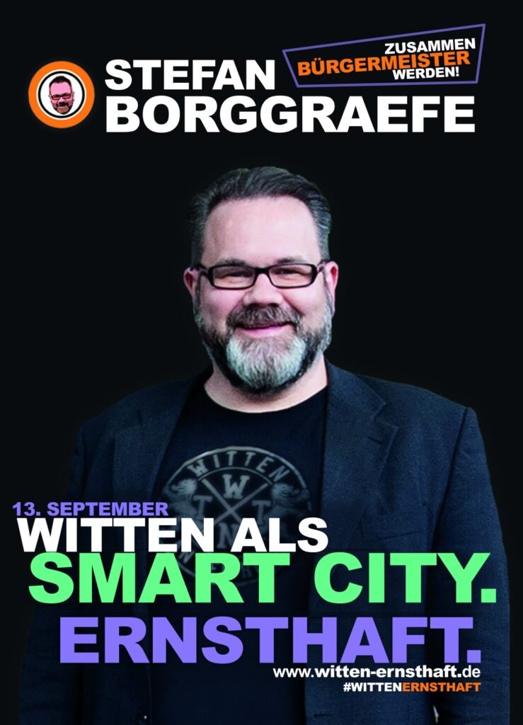 "Wahlplakat ""Witten als Smart City. Ernsthaft."""